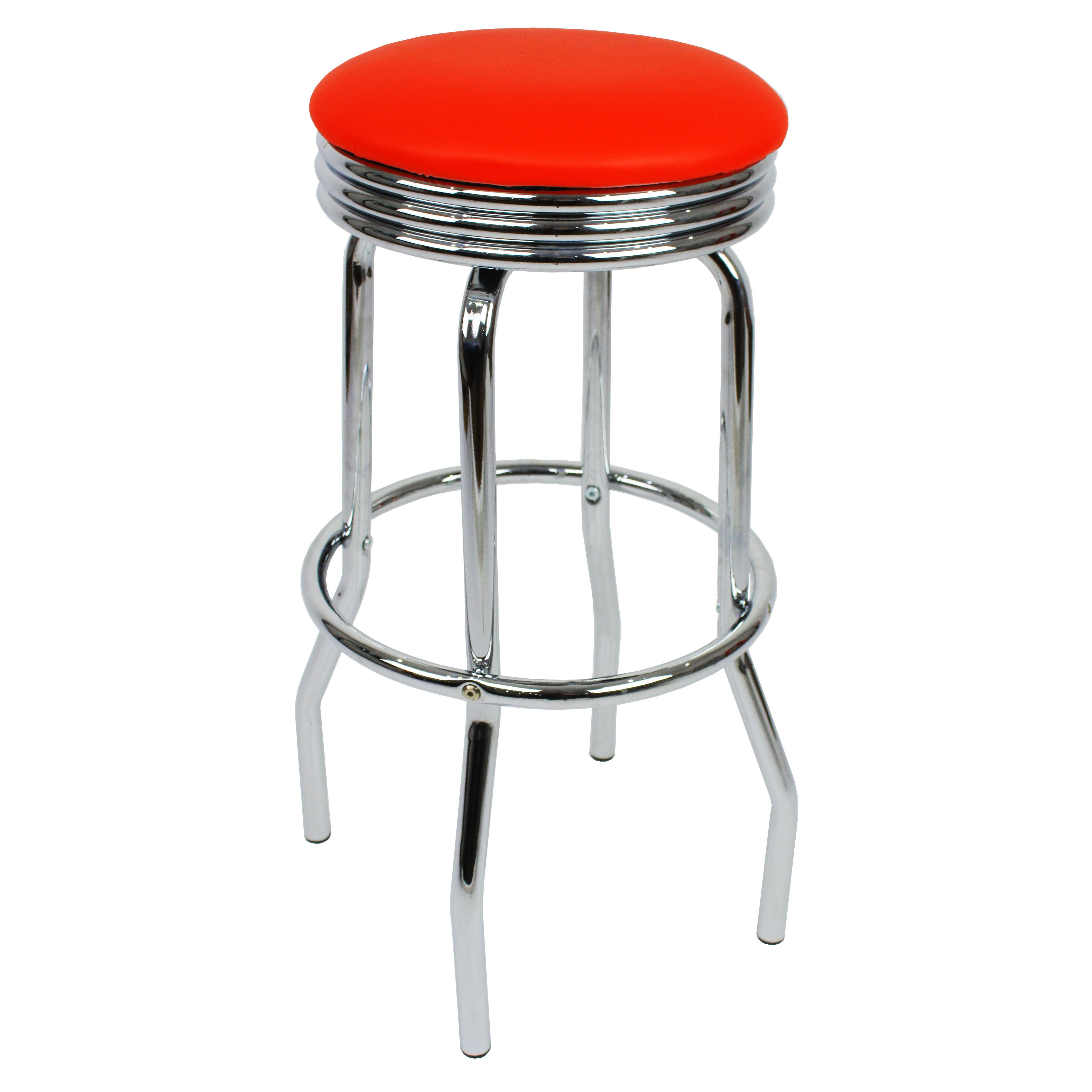 Retro Bar Stool - Red